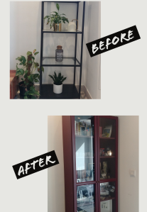 Cabinets before and after