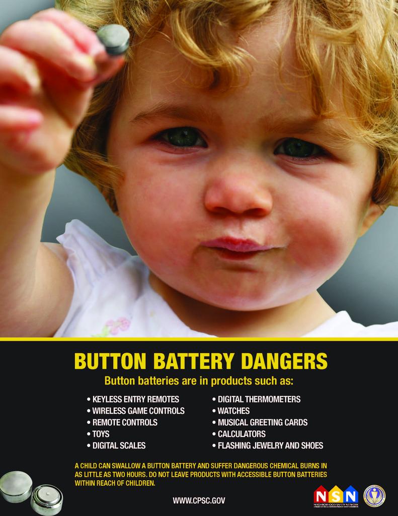 CPSC poster button batteries dangers