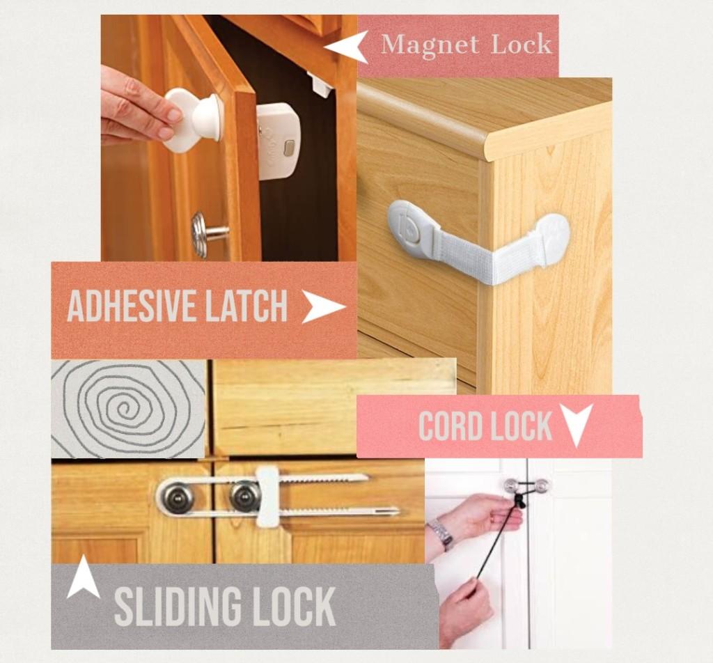 4 types of cabinet locks