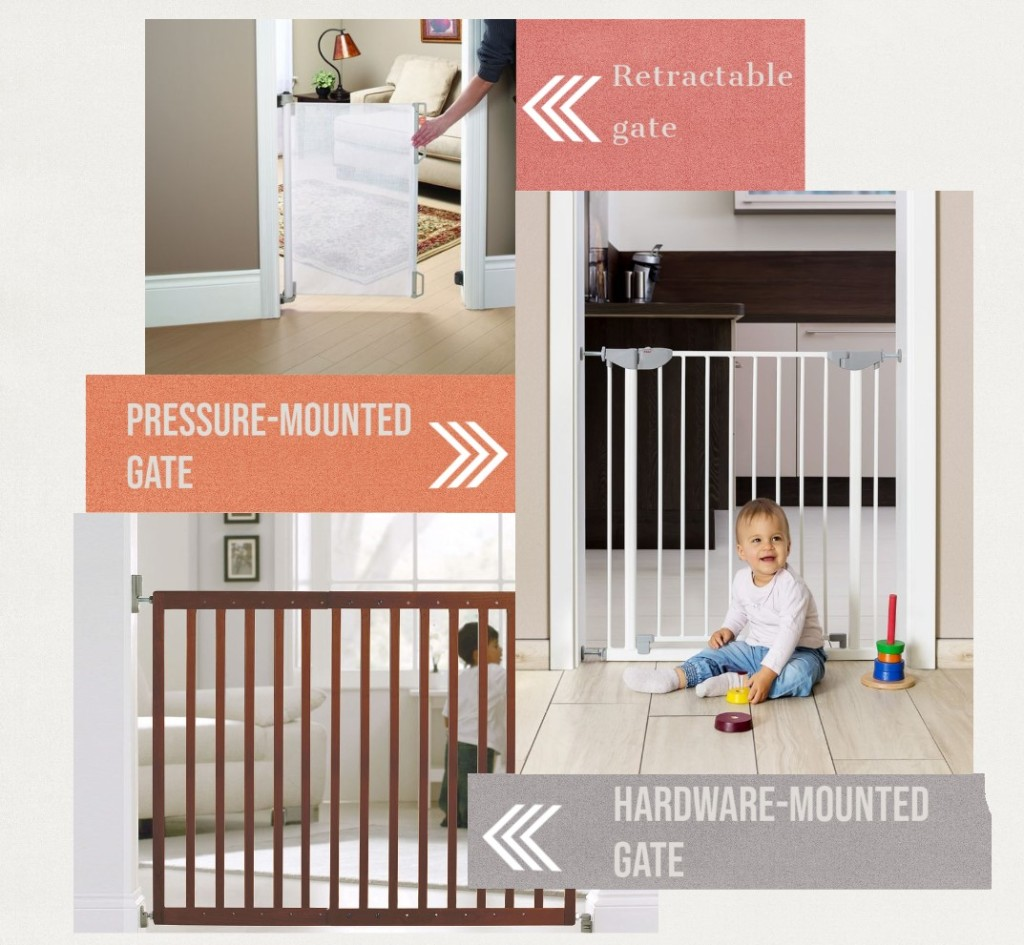 Different types of baby gates